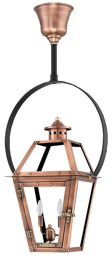 Orleans Aged Copper 2 -Bulb Outdoor Hanging Lantern