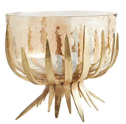 modern oval glass bowl