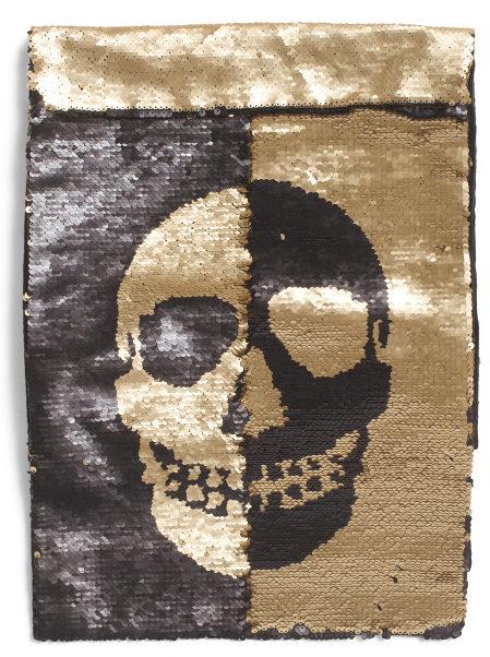 sequin-skull-table-runner