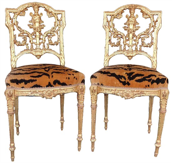 Hand Carved Wood Chairs