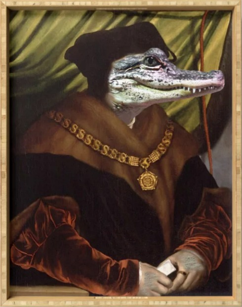 High Chancellor Crocwell portrait Serving Tray