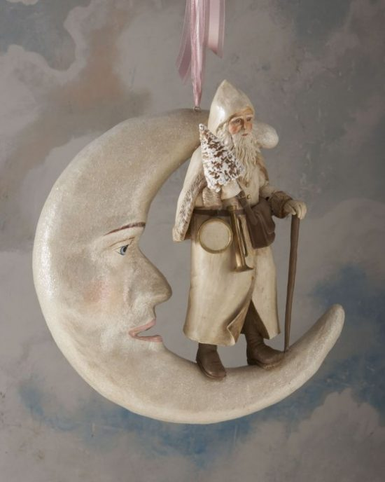 Horchow-moon-Santa-ornament