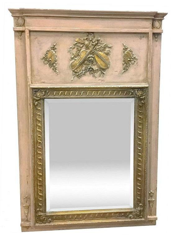 Music-Themed Trumeau Mirror