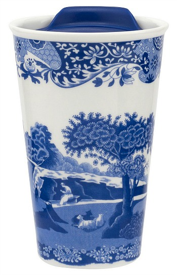 Spode Blue Italian travel mug