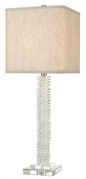 Stacked Cube Crystal Table Lamp