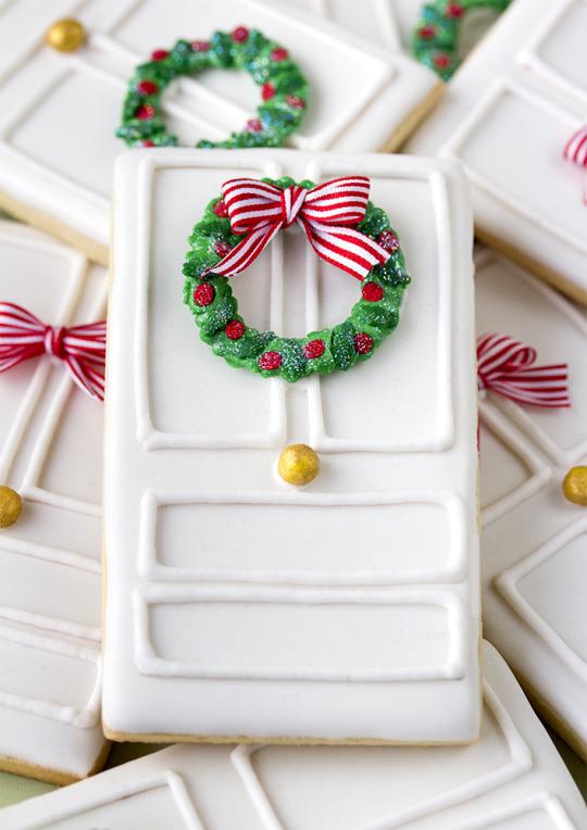 decorated-doors-wreaths-Christmas-cookies
