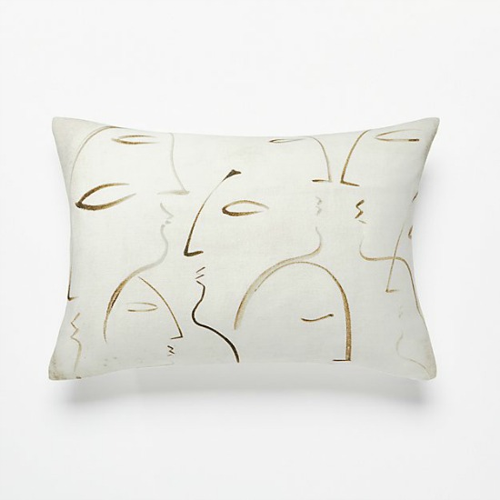 silhouette abstract throw pillow