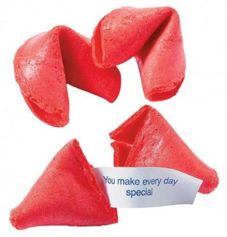 Valentines fortune cookies