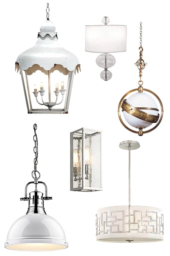 white-kitchen-lighting-fixtures