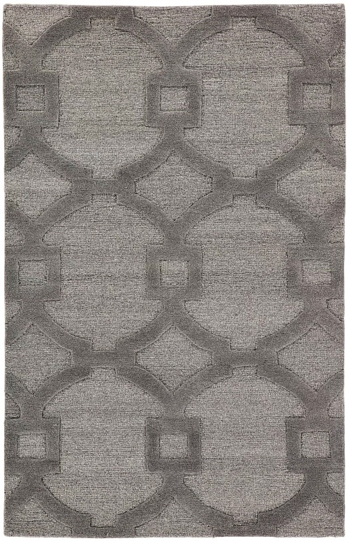 Bohara Trellis Hand-Tufted Wool Gray Area Rug