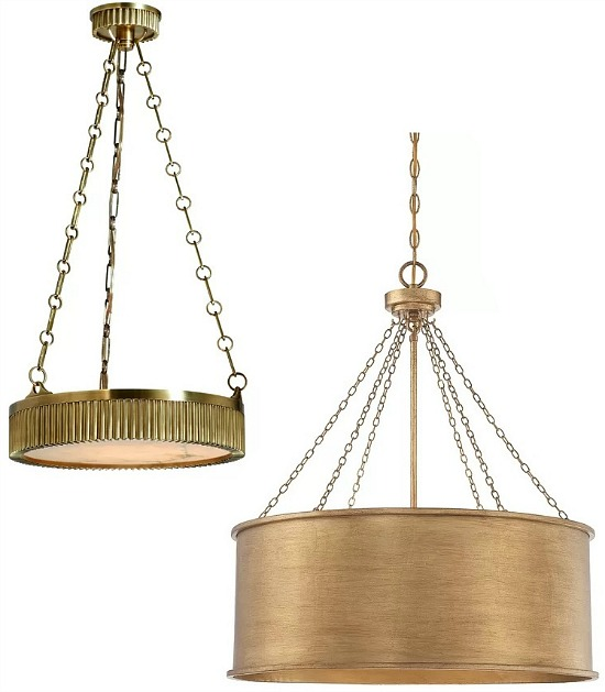 Light Shaded Drum Chandelier