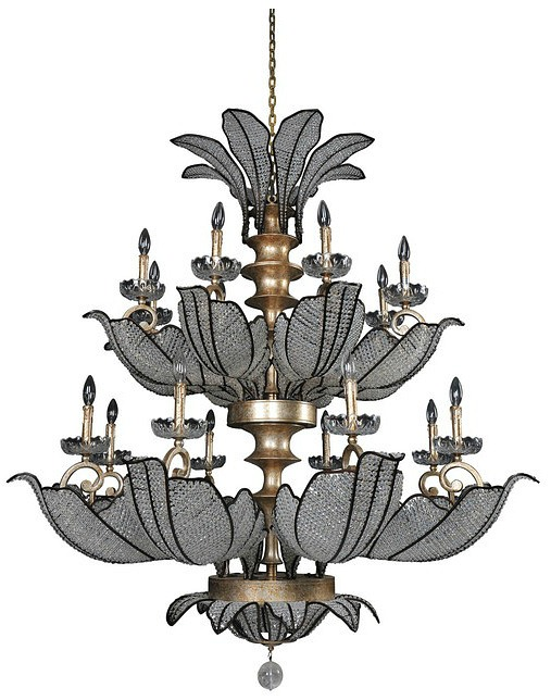 Tiepolo 16 Light Chandelier, Firenze Clear