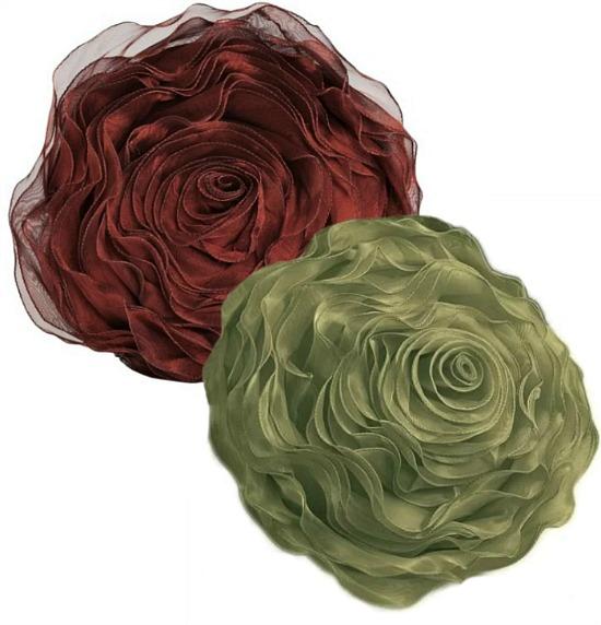 floral rose pillow
