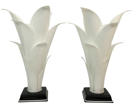 rougier-palm-leaf-lucite-lamps