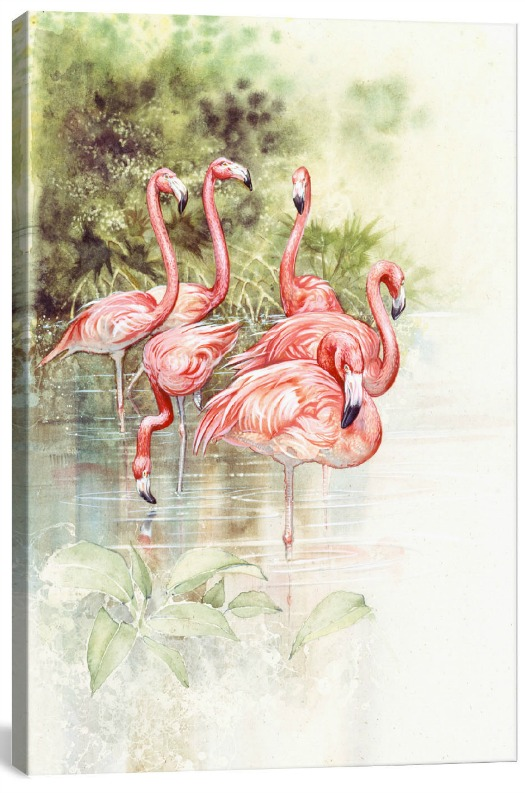 Flamingo+Bird+by+Tim+Knepp+Painting+Print+on+Canvas
