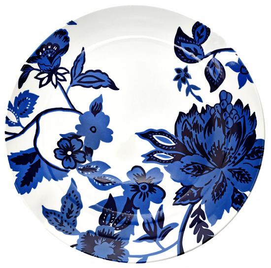 Royal Norfolk Blue Floral Dinner Plate