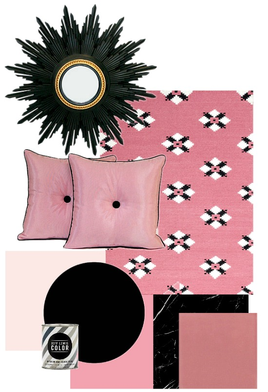 Color Combination Pink and Black