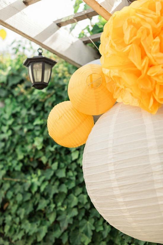 yellow paper lanterns