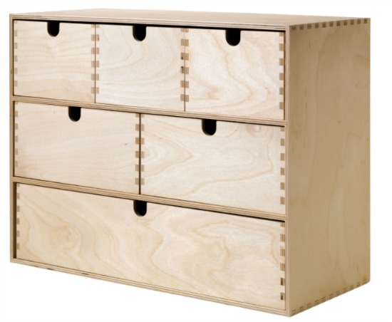 MOPPE Mini storage chest, birch plywood