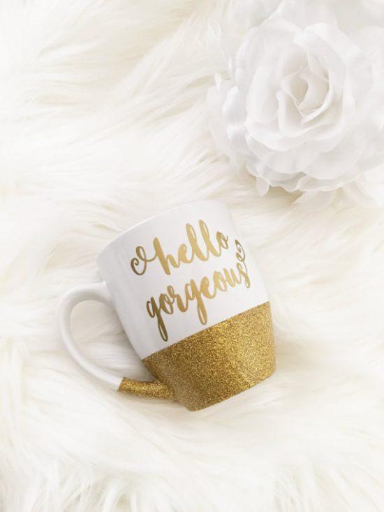 hello gorgeous coffee mug