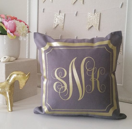 monogramed-pillow
