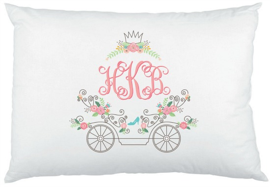 Cinderella Monogram pillowcase
