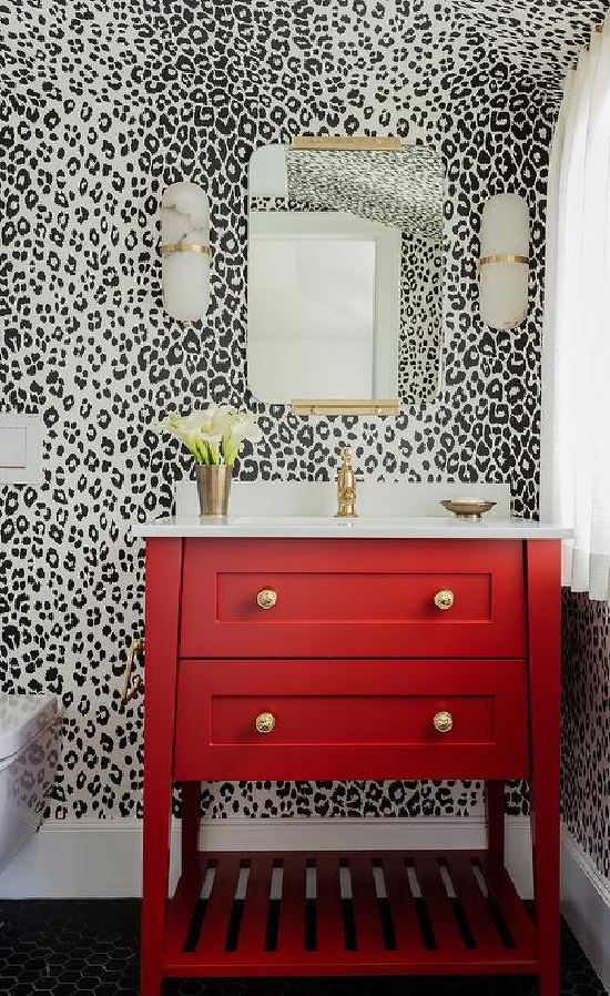 red-washstand-with-alabaster-sconces