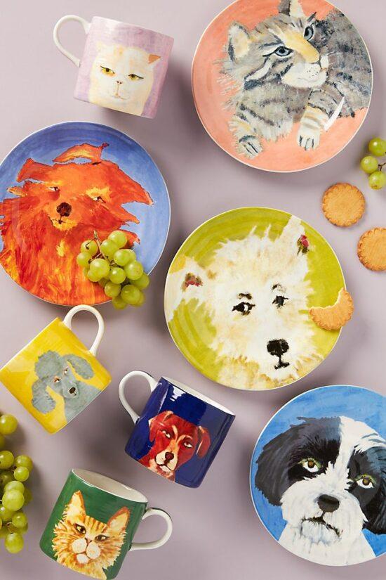 Carole Akins Furry Friends Dessert Plate