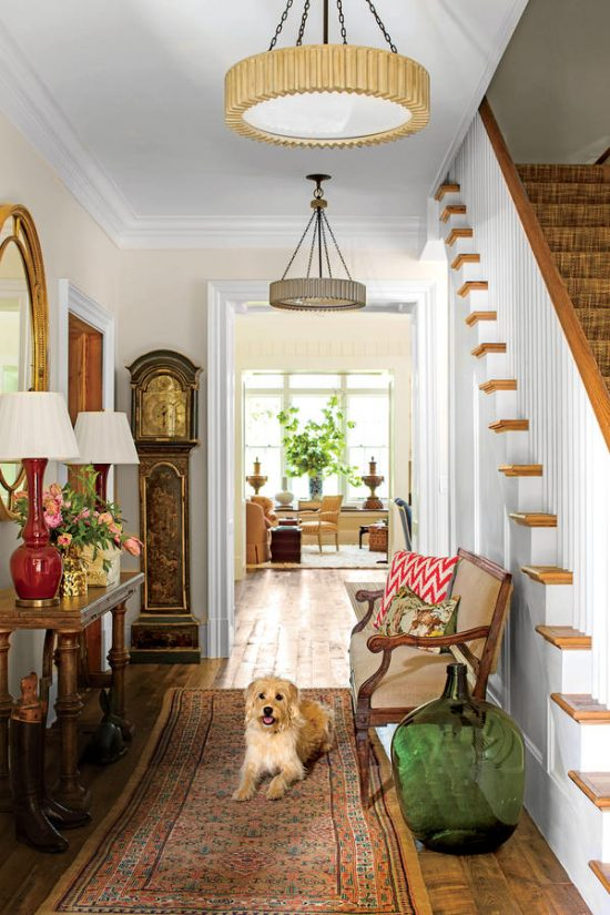 2015 Charlottesville Idea House, foyer with and without Bobsie. Cover try