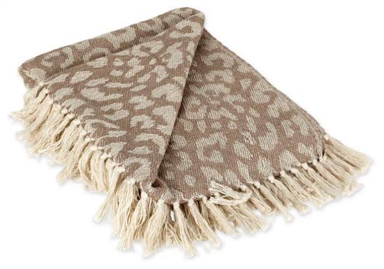 Leopard Print Throw - Design Imports