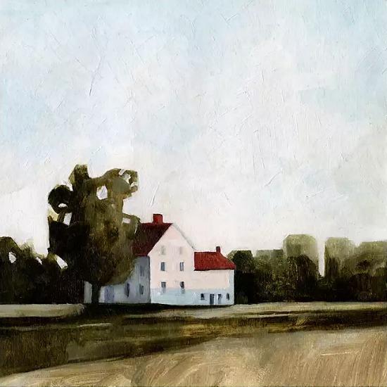 Quiet Farmhouse Canvas Art Print