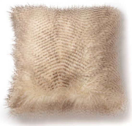 Spotted Faux Fur Decorative Throw Pillow Brown/Natural - SureFit