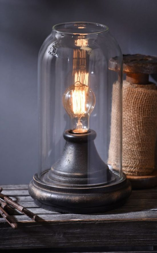 distressed-black-cloche-edison-lamp