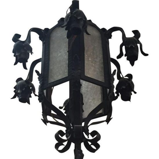 wrought-iron-glass-lantern