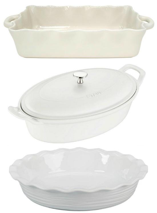 white baking dishes