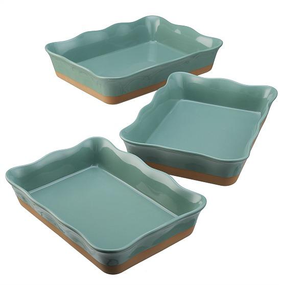 Better Homes & Gardens Ellie Rectangular Baking Dish, Set of 3