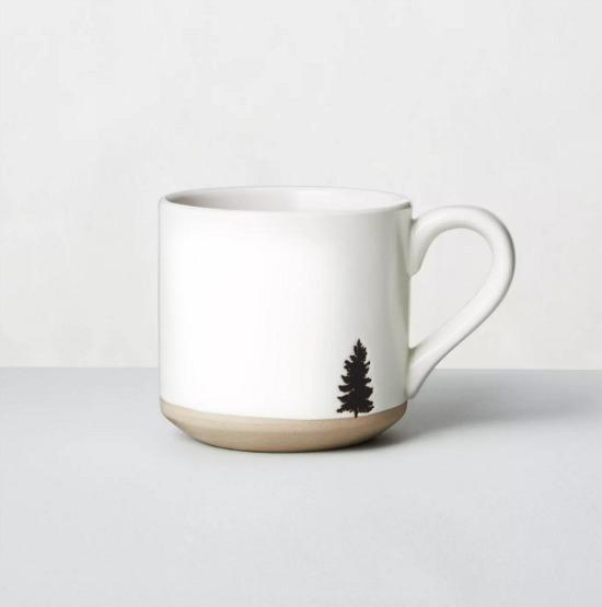 Black Tree Imprinted Stoneware Mug White - Hearth & Hand with Magnolia