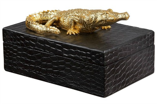 Crocodile+Decorative+Box