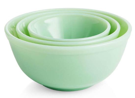 Mosser Jadeite Mixing Bowls, Set of 3