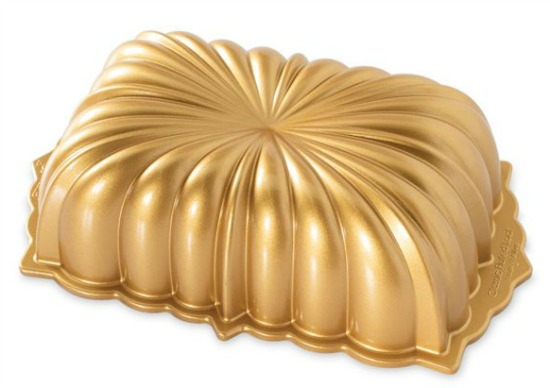 Nordic Ware Premier Gold Classic Fluted Loaf Pan
