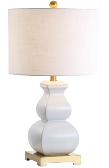 Vienna Ceramic LED Table Lamp WhiteGold by JONATHAN Y