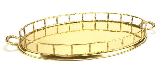 gold bamboo serving tray