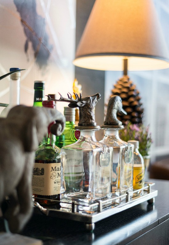 industrial style home bar