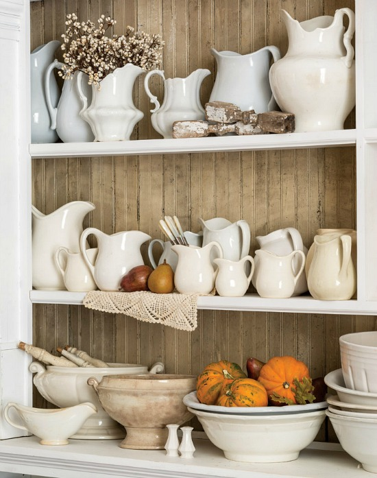 ironstone-bowls-pitchers-creamers