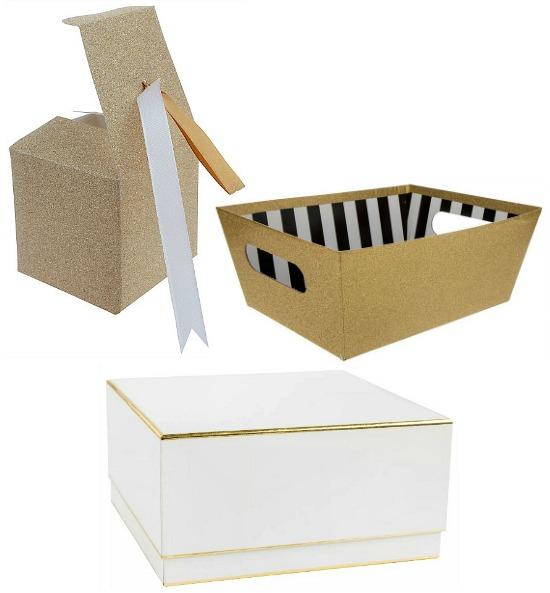 white gold gift box