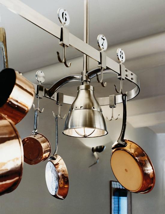 Pot Rack with Studio Lights