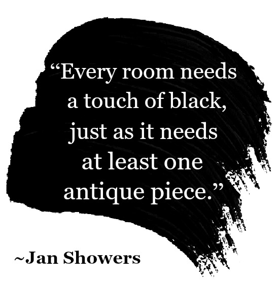 a touch of black