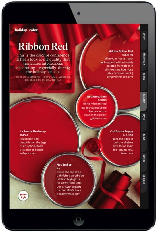 red paints better homes and gardens