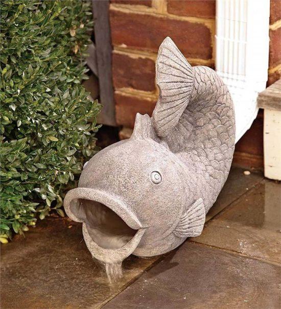 Fish+Downspout+Statue