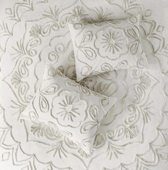Madison Park Juliana Cotton Chenille 3-pc. Medallion Coverlet Set